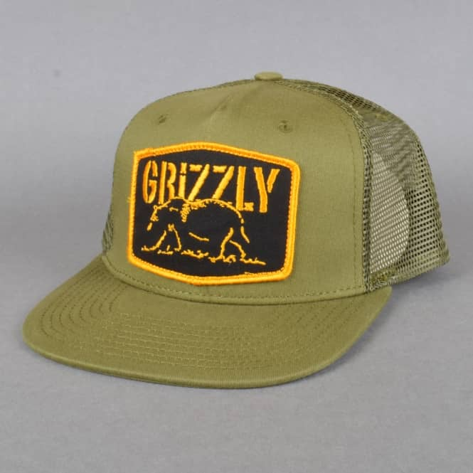 Grizzly Griptape Northern Rockies Trucker cap - Army Green
