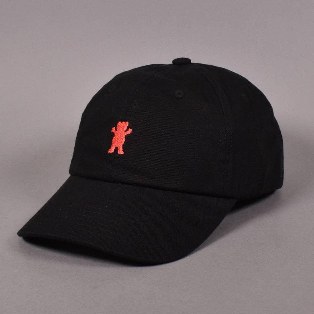 5da4fa84 Grizzly Griptape OG Bear Logo Dad Strapback Cap - Black - SKATE ...