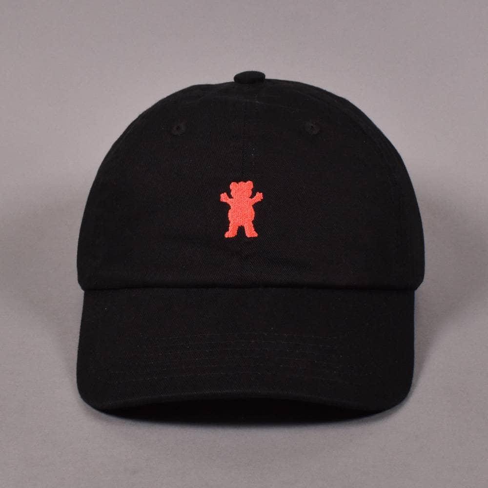 00c1c88b Grizzly Griptape Grizzly Griptape OG Bear Logo Dad Strapback Cap - Black