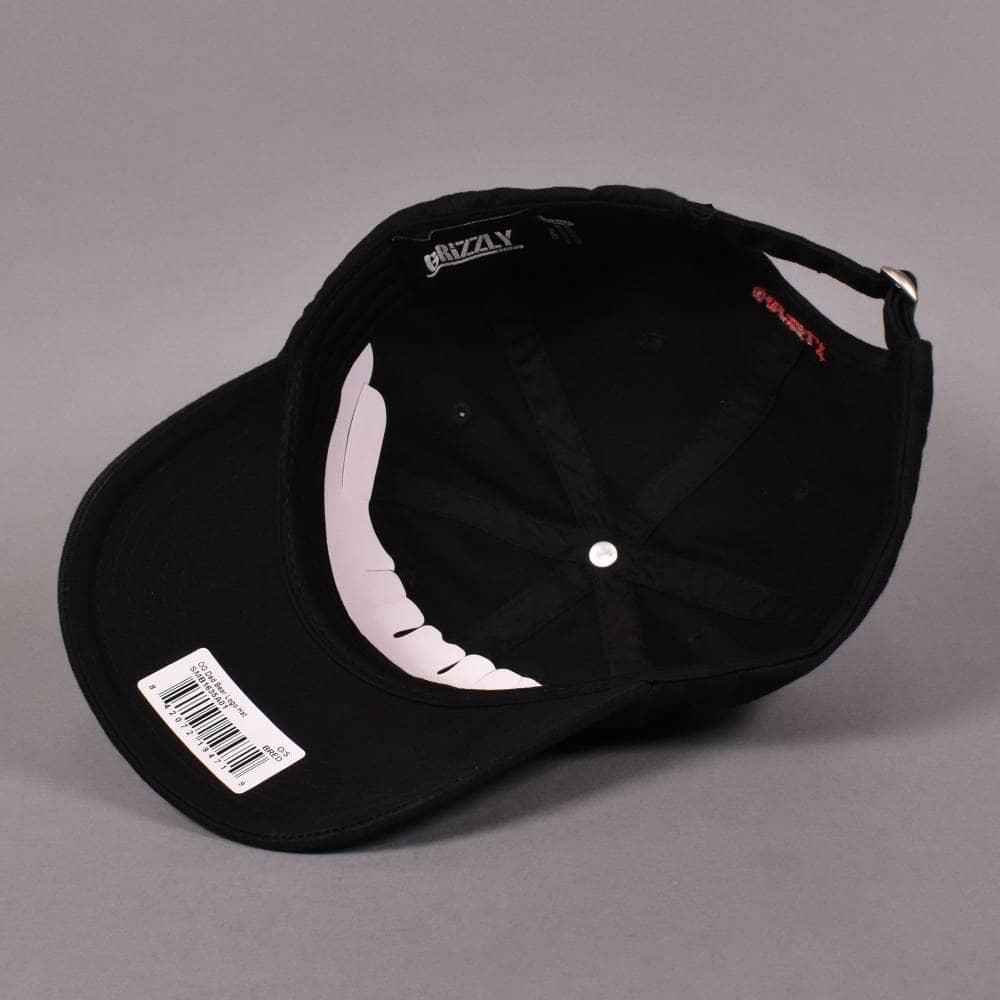 Grizzly Griptape OG Bear Logo Dad Strapback Cap - Black - SKATE ... 1123fb94deec
