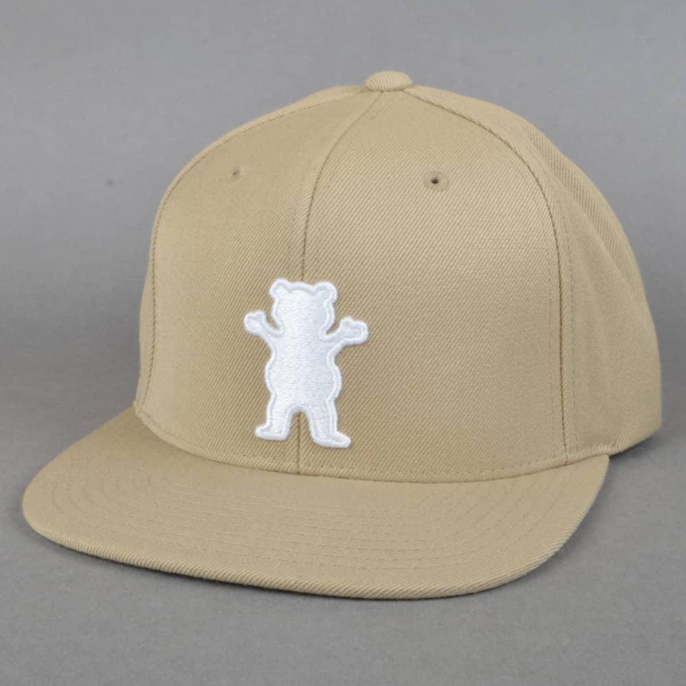 accb204f Grizzly Griptape OG Bear Logo Strapback Cap - Tan - SKATE CLOTHING ...