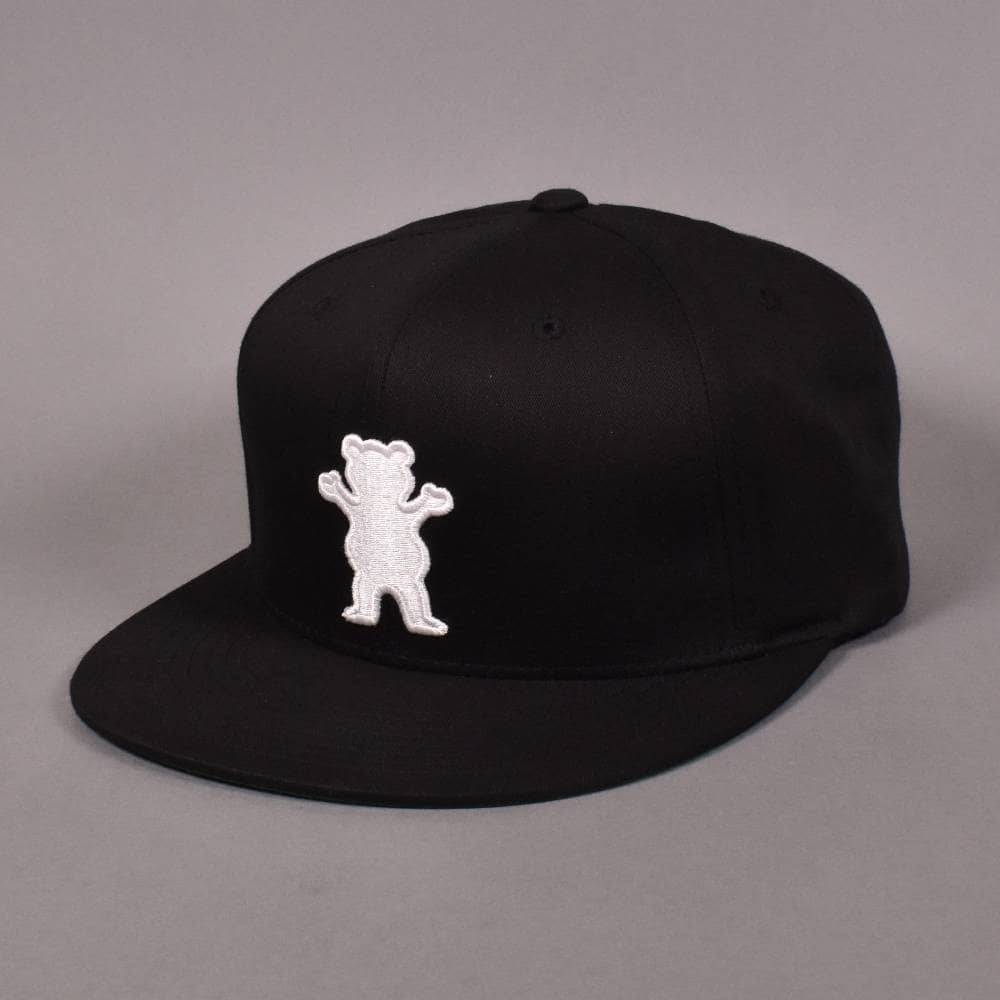 4608d2ff Grizzly Griptape OG Bear Snapback Cap - Black - SKATE CLOTHING from ...