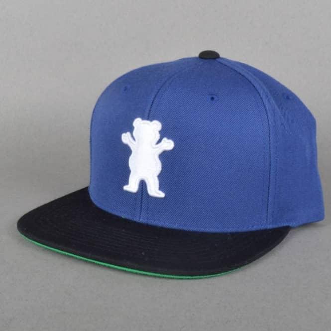 4ffe1843 Grizzly Griptape OG Bear Snapback Cap - Royal Blue - SKATE CLOTHING ...