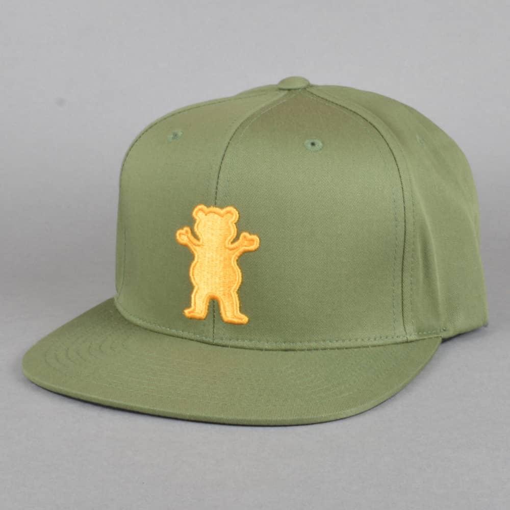 5bff3e7b Grizzly Griptape OG Bear Strapback - Olive - SKATE CLOTHING from ...