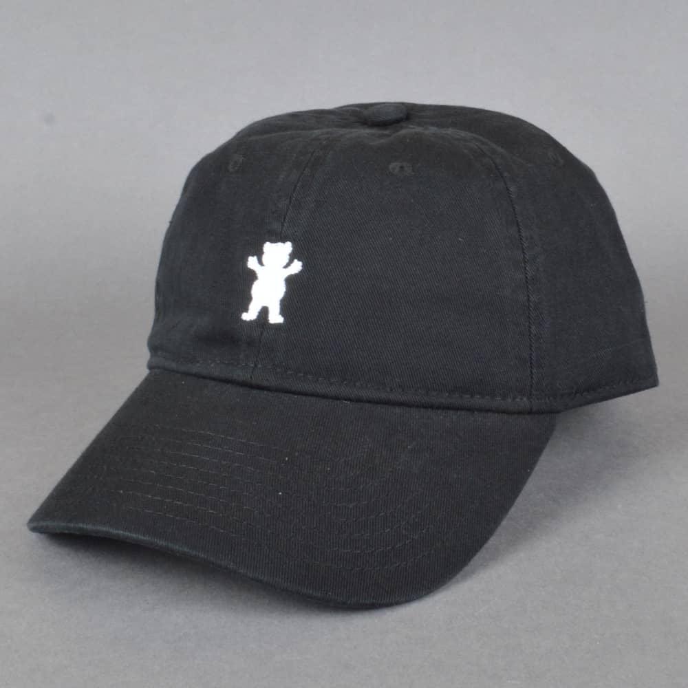 Grizzly Griptape OG Dad Bear Logo Cap - Black - SKATE CLOTHING from ... c3c494d51830