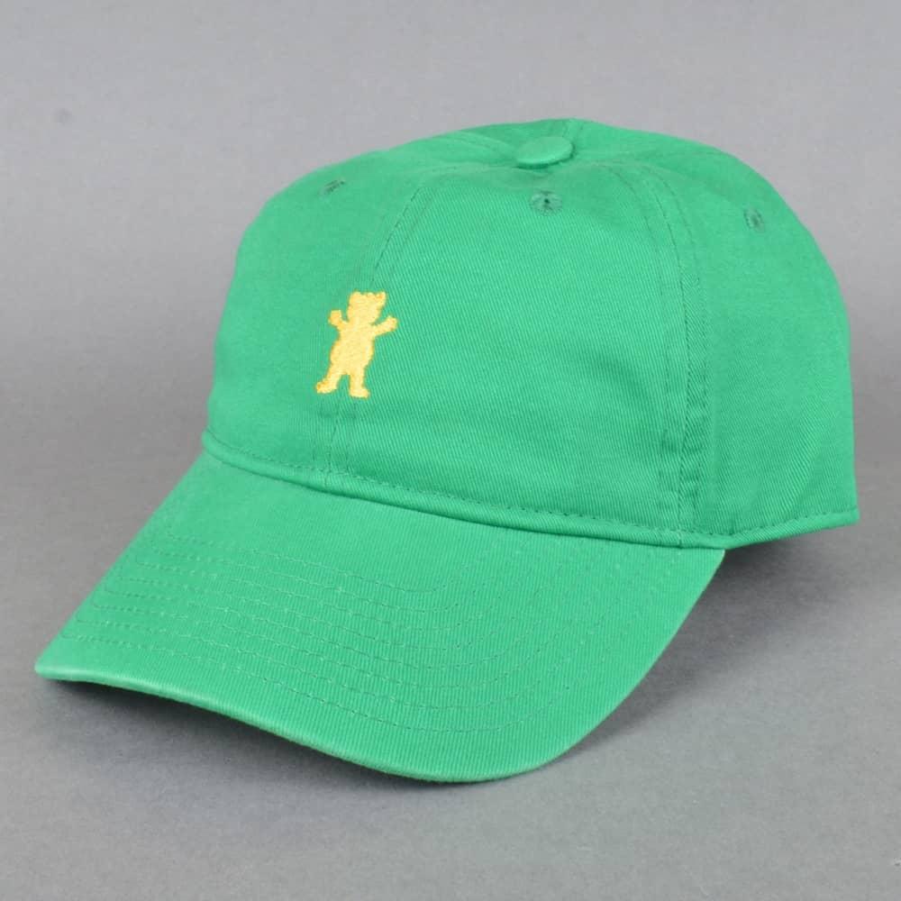 Grizzly Griptape OG Dad Bear Logo Cap - Green - SKATE CLOTHING from ... 3744d7fe2408