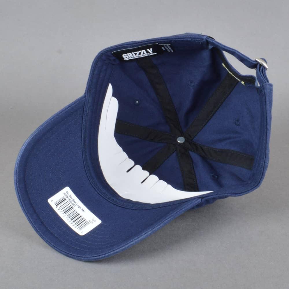 Grizzly Griptape OG Dad Bear Logo Cap - Navy - SKATE CLOTHING from ... 8984fa941ae3