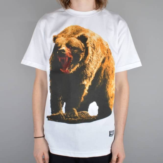 Grizzly Griptape Out For Blood Skate T-Shirt - White