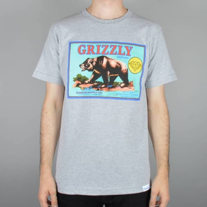 Grizzly Griptape Sales Agents Skate T-Shirt - Grey