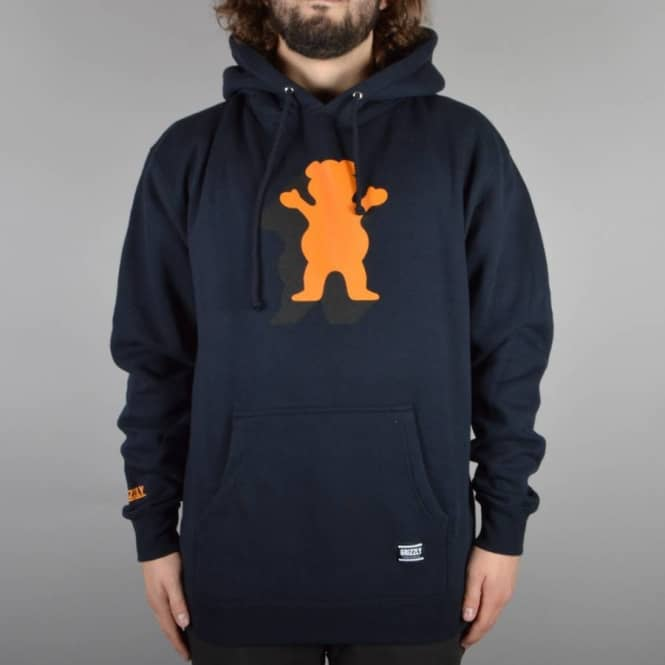 Grizzly Griptape Shade OG Bear Pullover Hoodie - Navy