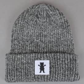 Squared OG Bear Beanie - Black Heather