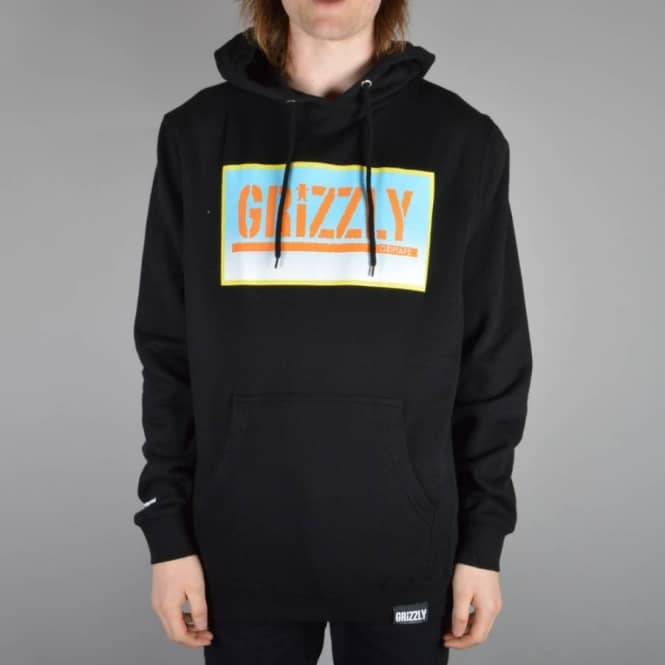 Grizzly Griptape Sunrise Stamp Pullover Hoodie - Black