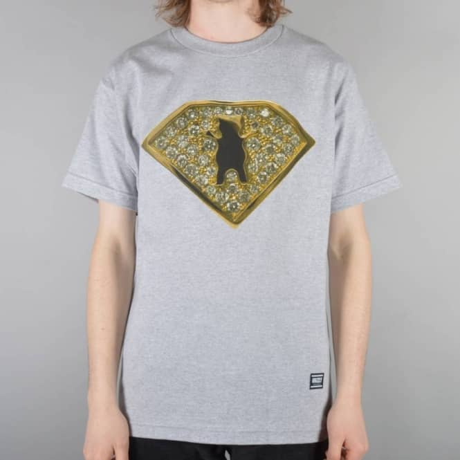 Grizzly Griptape Team Ring Skate T-Shirt - Heather Grey