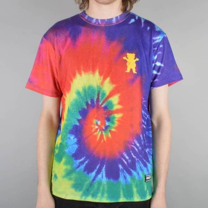 Grizzly Griptape Tie Dye Griptape Skate T-Shirt - Multi ...