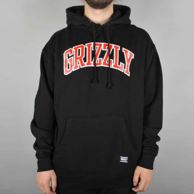 Grizzly Griptape Top Team Pullover Hoodie - Black