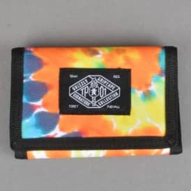 Grizzly Griptape TP01 Tri-Fold Wallet - Orange Tie Dye