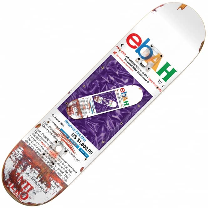 Antihero Skateboards Grosso Pool Party EBAH Popsicle Skateboard Deck 8.5