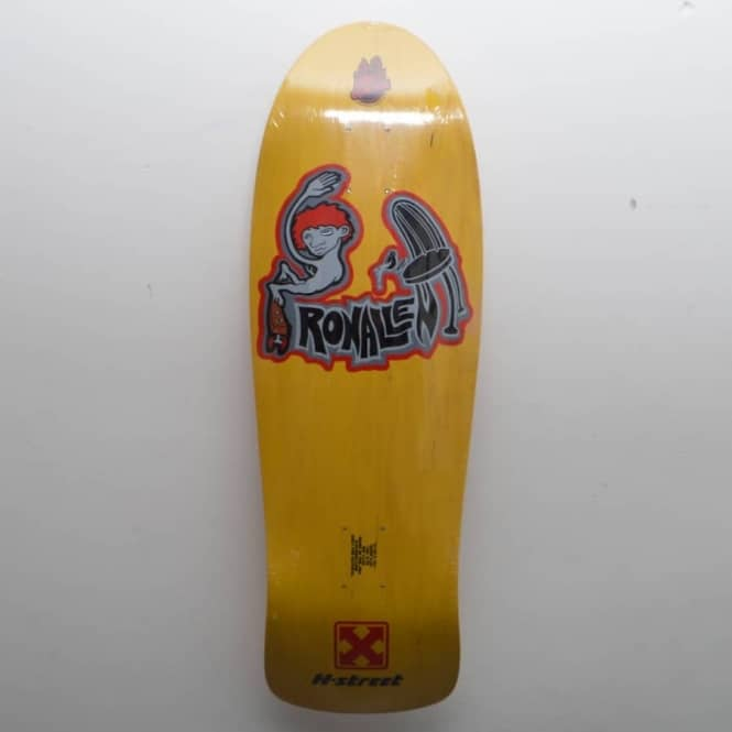H-Street Skateboards Ron Allen No Scratch Yellow Skateboard Deck 10.1