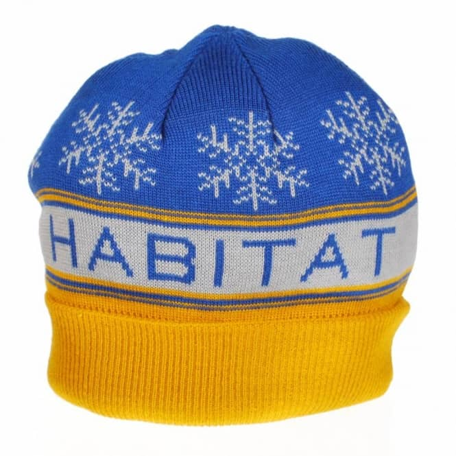 Habitat Skateboards Habitat Slope Beanie - Royal/Yellow