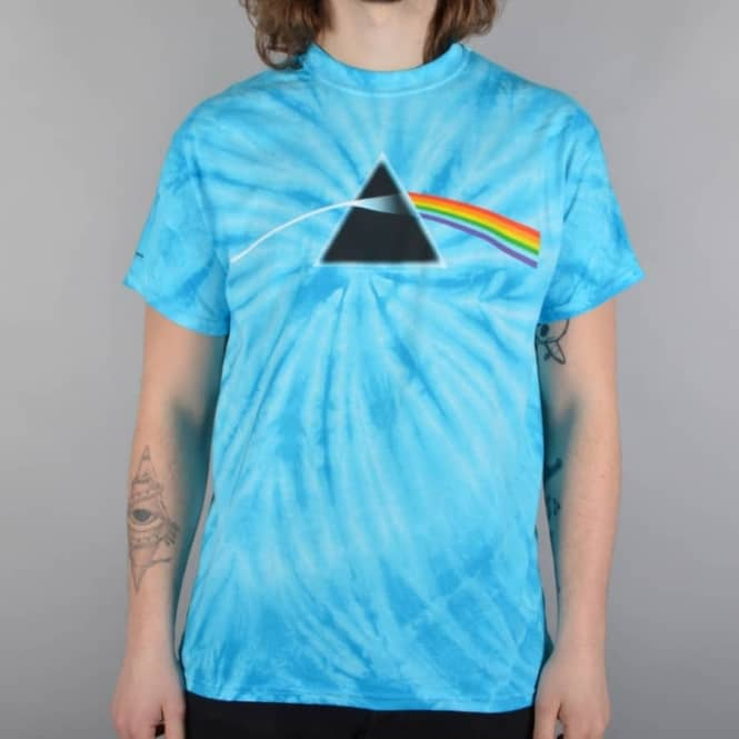 Habitat Skateboards x Pink Floyd Darkside Of The Moon Tie Dye T-Shirt - Turquoise