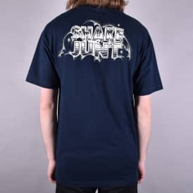 Hand Drawn Skate T-Shirt - Navy