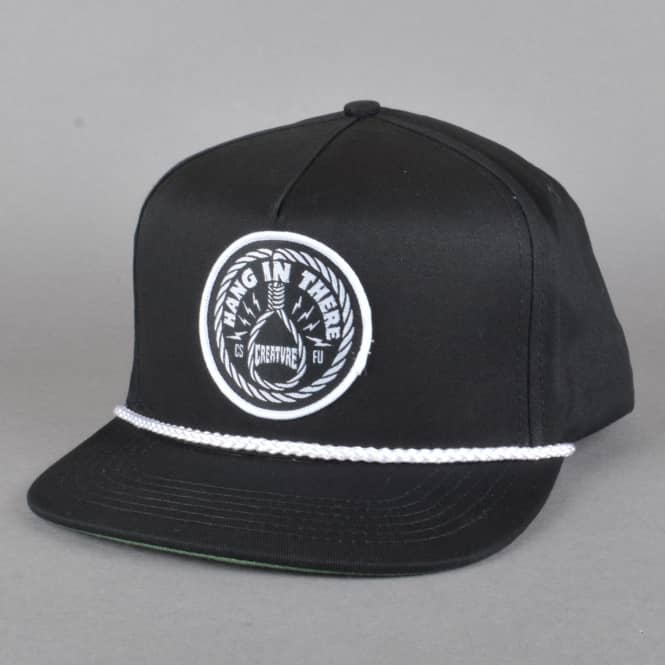 Creature Skateboards Hang In There Snapback Cap - Black