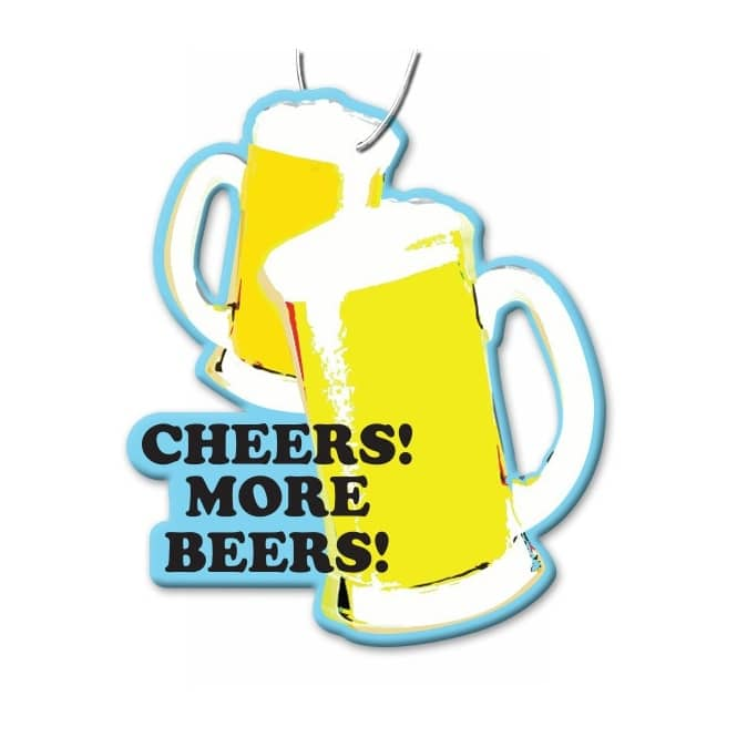 Cheers more beers skateboard stickers