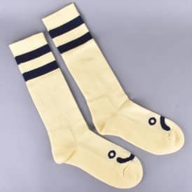Happy Sad Classic Socks - Pastel Yellow