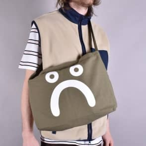 Polar Skateboards Happy Sad Tote Bag - Olive