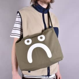 Happy Sad Tote Bag - Olive