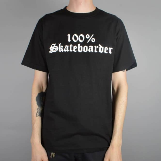 Hard Luck MFG 100% Skateboarder T-Shirt - Black