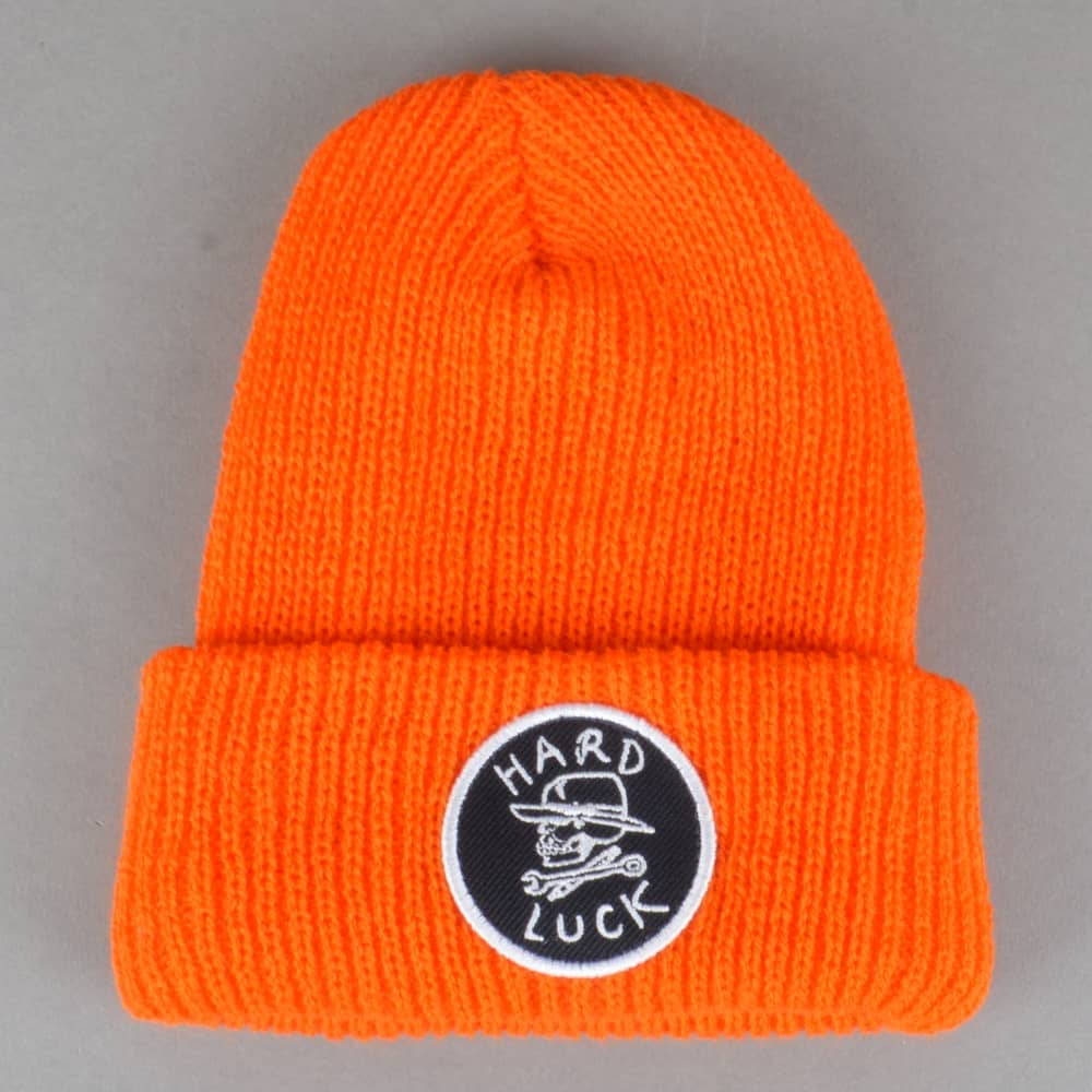 ea2d227c56fb Hard Luck MFG OG Logo Circle Patch Beanie - Orange - SKATE CLOTHING ...