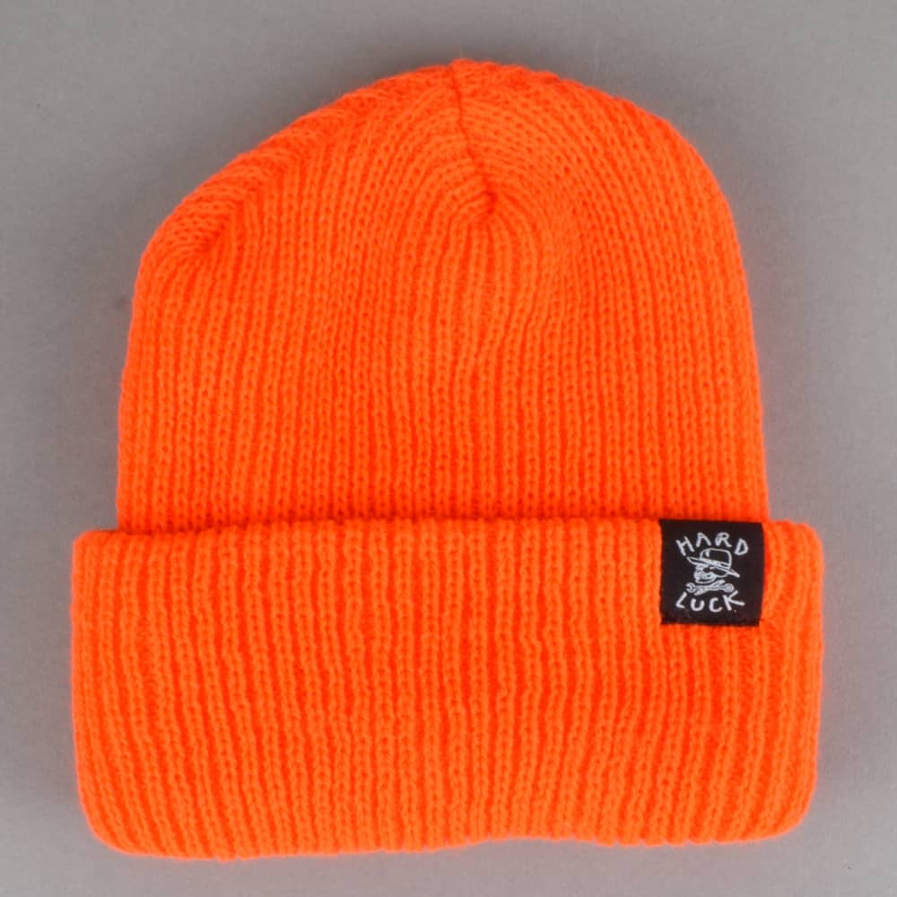 Hard Luck MFG OG Logo Woven Beanie - Orange - SKATE CLOTHING from ... 153c0a821ea