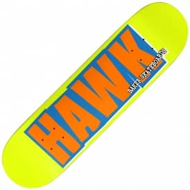 Hawk Name Logo Skateboard Deck 8.0