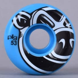 Head 3D Conical Blue Skateboard Wheels 53mm
