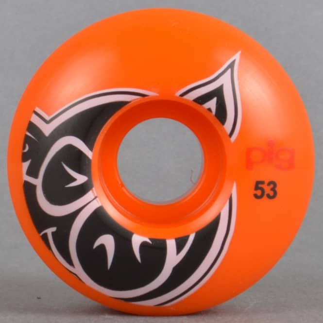 Pig Wheels Head Orange Skateboard Wheels 53mm