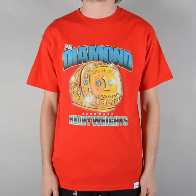 Diamond Supply Co. Heavyweight Champs Skate T-Shirt - Red