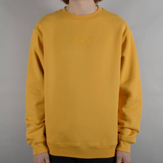 Polar Skateboards Heavyweight Default Crewneck Sweater - Apricot