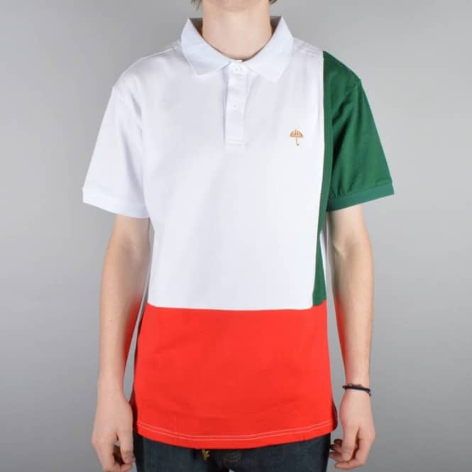 Helas Caps Helas Tie Break Italia Polo - White/Green/Red