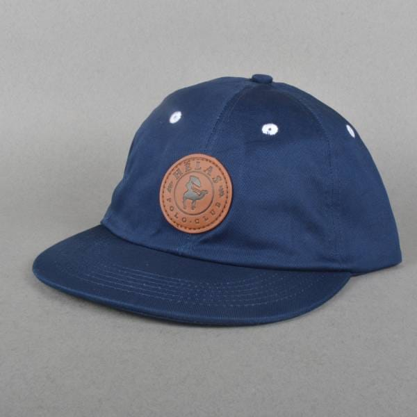 b6b6ce6eea7 Helas Caps Polo Club 6 Panel Cap - Navy - SKATE CLOTHING from Native ...