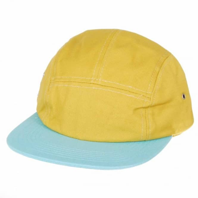 Helas Caps Helas Sunday Snapback Five Panel Cap - Mustard Baby Blue ... a1dc158441e