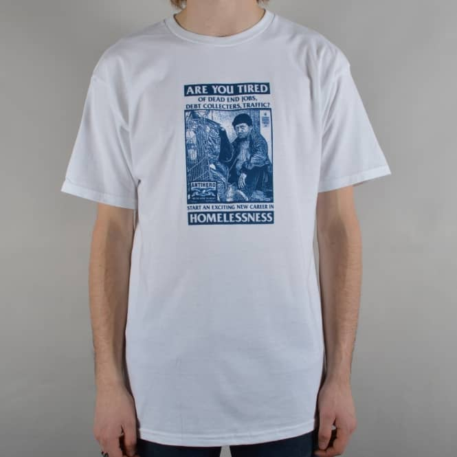 Antihero Skateboards Help Dept Skate T-Shirt - White