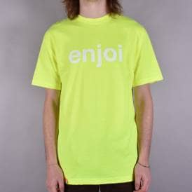 Helvetica Logo Skate T-Shirt - Safety Green
