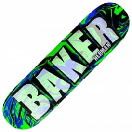 Baker Skateboards Herman Brand Name Abstract Skateboard Deck 8.0""