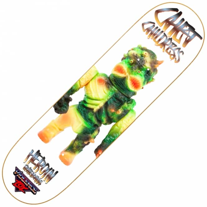 Heroin Skateboards Childress Violence Toy Skateboard Deck 8.5
