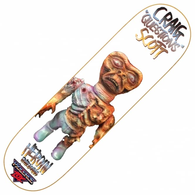 Heroin Skateboards Craig Questions Violence Toy Skateboard Deck 8.4