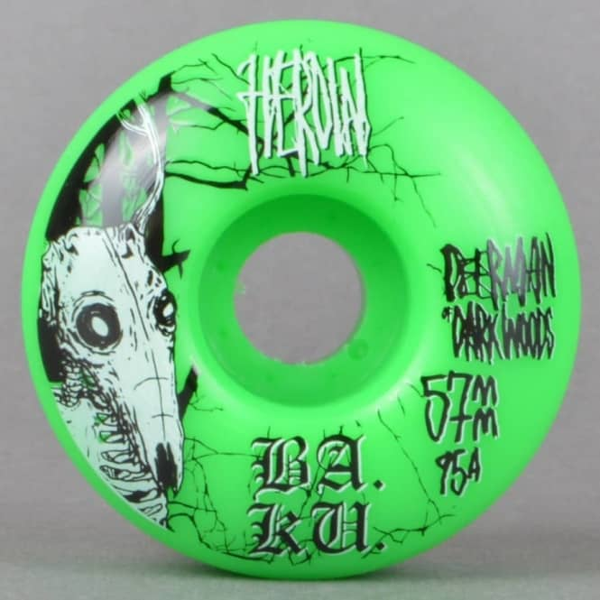 Heroin Skateboards DMODW Green 95A Skateboard Wheels 57mm