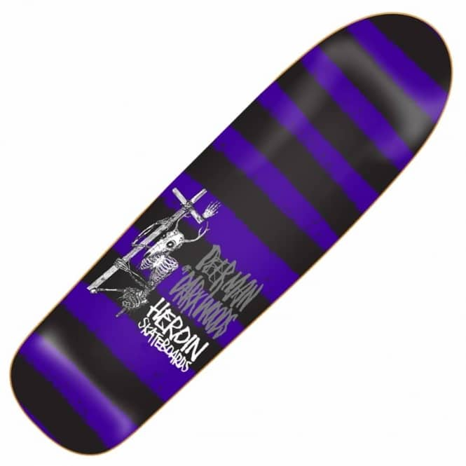 Heroin Skateboards DMODW Striped Icon Skateboard Deck 9.5''