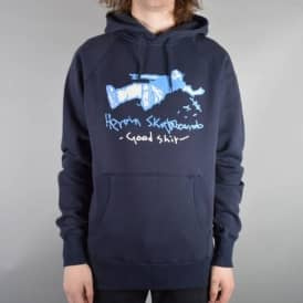 Heroin Skateboards Good Sh*t Pullover Hood - Navy
