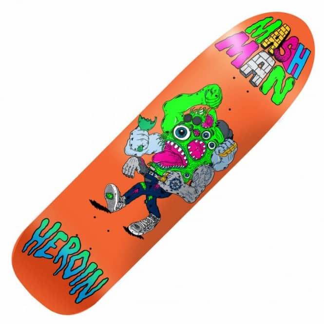 Heroin Skateboards Heroin Mash Man Custom Skateboard Deck 8 5''